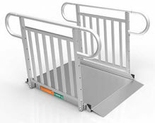 4 Foot Gateway 3G Ramps with Vertical Pickett Handrails