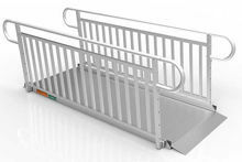 8 Foot Gateway 3G Ramps with Vertical Pickett Handrails