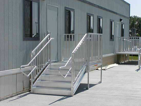 ADA Compliant Metal Stairs