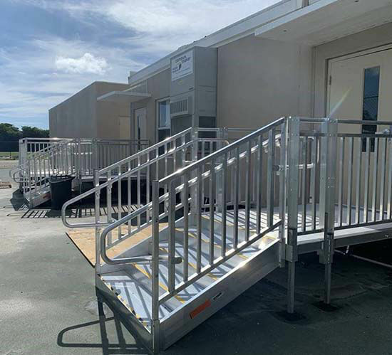 ADA Aluminum stairs for businesses